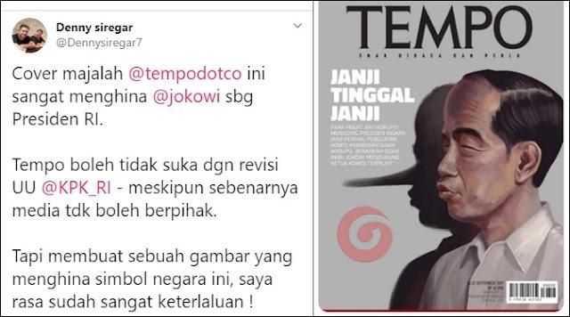 Bikin Hidung Macam Pinokio, Pendukung Jokowi  Sebut Cover Majalah TEMPO Keterlaluan