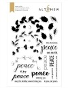 Altenew PEACEFUL WREATH Clear Stamps