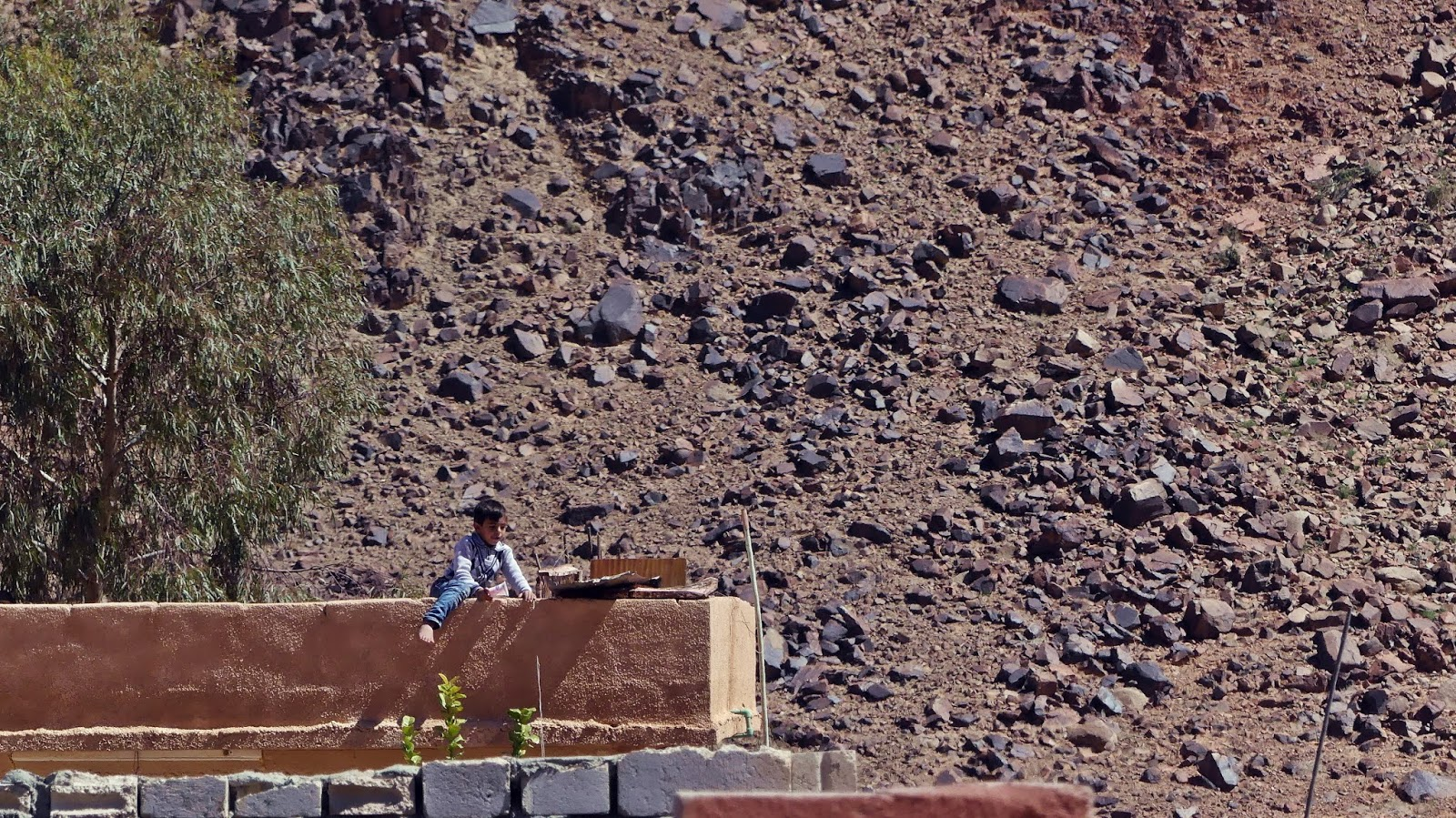 Jordania Wioska Wadi Rum dzieci