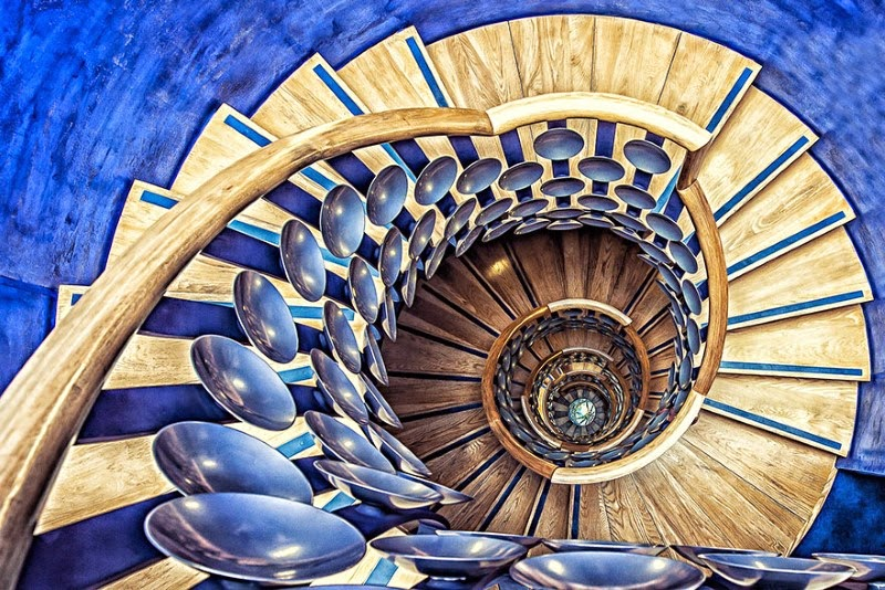 "9. ""Magic Staircase"" – Tony Antoniou - 15 Mesmerizing Examples of Spiral Staircase Photography"