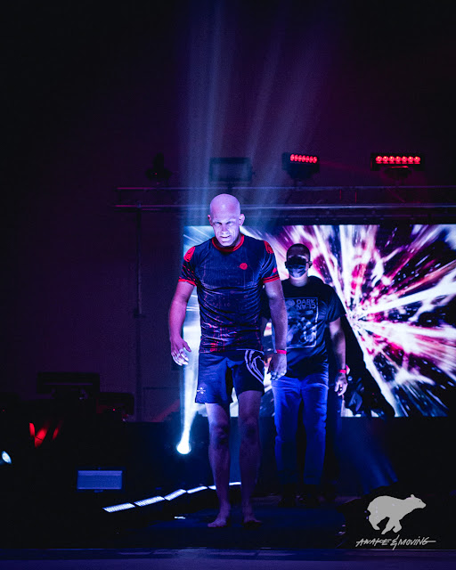 Danny Mulvihill of Dark Clan Fight Lab makes the walkout.