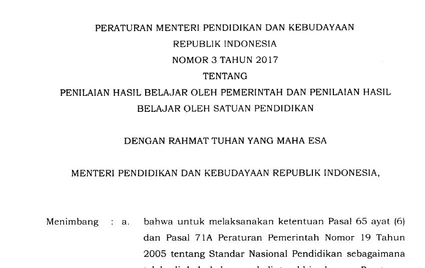 Image Result For Download Permendikbud No Tahun A
