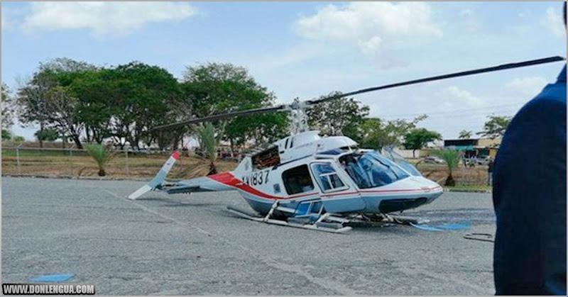 Helicóptero cayó en un estadio de Béisbol en San Félix