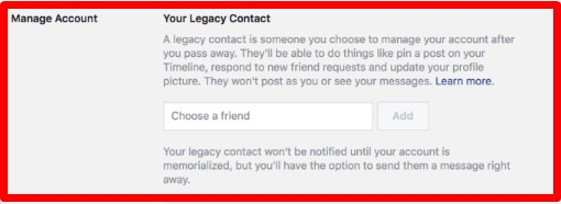 facebook after death settings