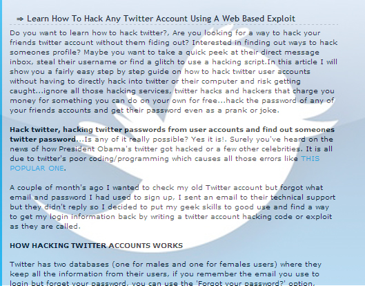 Art of twitter account hacking, now or never !