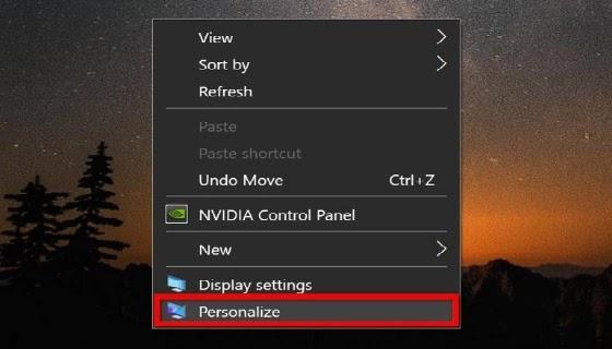 كيفية تغيير خلفية سطح المكتب في Windows 10