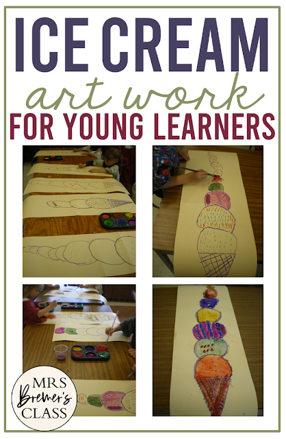 The Enormous Ice Cream art lesson Kindergarten