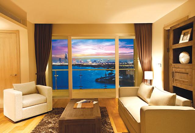 cảnh quan nhìn từ căn hộ Đảo Kim Cương