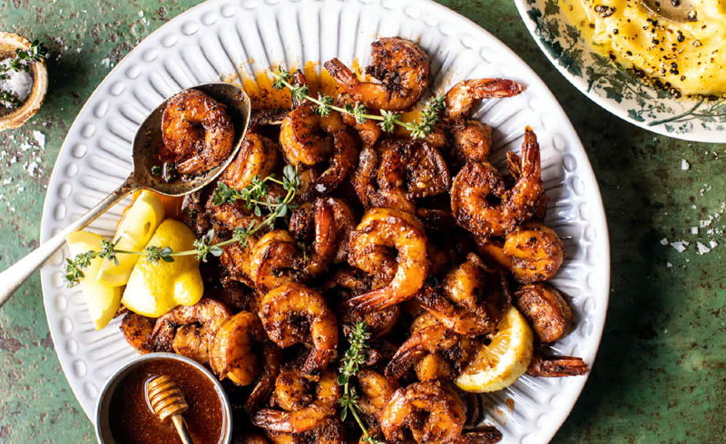 15 Minute Southern Hot Honey Butter Shrimp