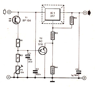 Various diagram: LM317 Dispaly Intensity Controller Circuit