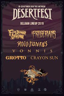 desertfest belgium 2019 belgian bands poster