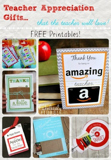 Fun printable for gifting gift cards to teachers