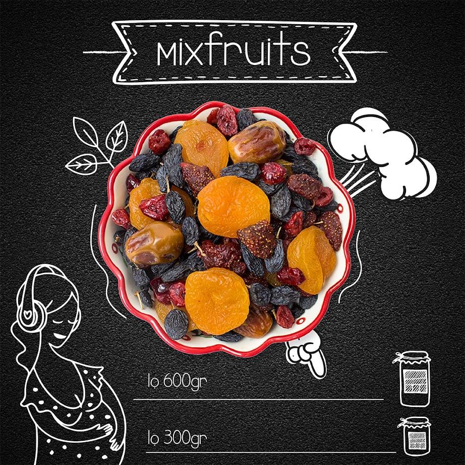 Mẹ Bầu ăn chay với Mixfruits ăn vặt tốt nhất