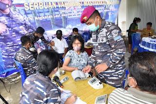 TNI AL Kembali Gelar Vaksinasi Di KBN