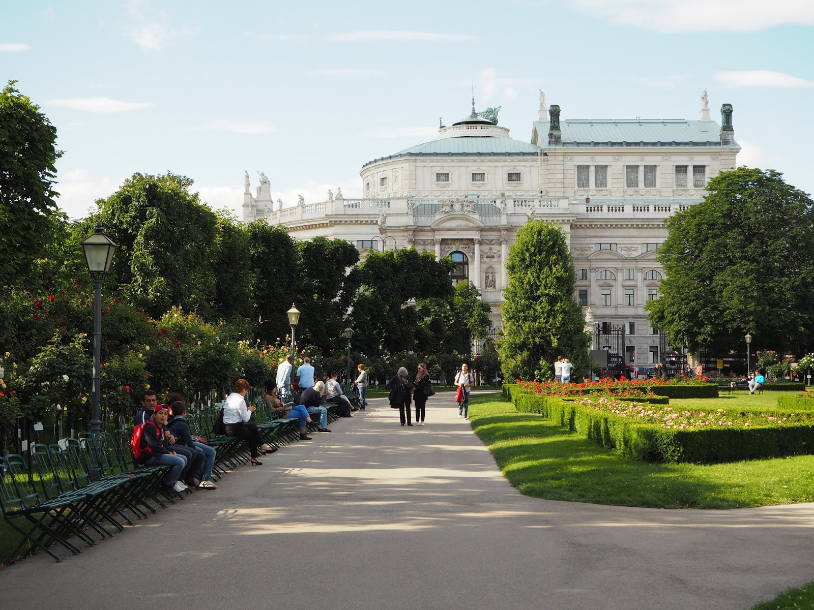 opera house and volksgarten vienna
