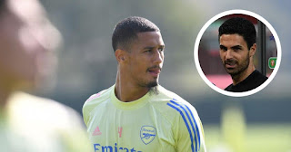 Arsenal manager Mikel Arteta revealed the reason why William Saliba did not play in Carabao Cup win vs Liverpool