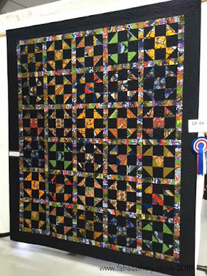 African quilt made by Natalie,  winner of the Charity Fundraising category Quilts UK, Malvern 2018