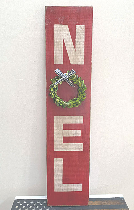 Christmas NOEL sign with wreath