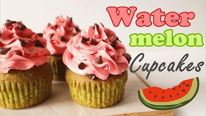 Watermelon Cupcakes 西瓜杯子蛋糕