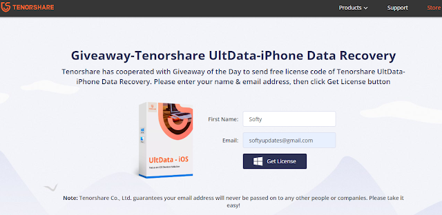 Tenorshare UltData-iPhone Data Recovery Free 12 Month