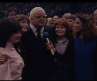 NWA Starrcade 83: A Flare for the Gold - Barbara Clary interviews Dusty Rhodes with some fans