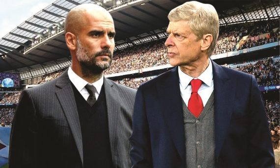 Manchester City host Arsenal as they look to emulate the Gunners' invincible season and go unbeaten.