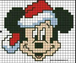 Schemi personaggi Disney Natale