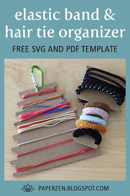 elastic band hair tie organizer diy template