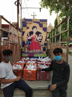 6000 पैकेट भोजन रोज वितरित कर रही बड़ी माता समिति