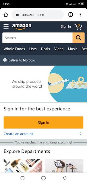 شركة أمازون أصبحت تدعم الشحن الى المغرب بشكل رسمي منذ هاته اللحظة