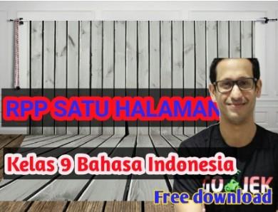 download –rpp- 1- lembar- bahasa –indonesia- kelas -9 -smp –semester-2