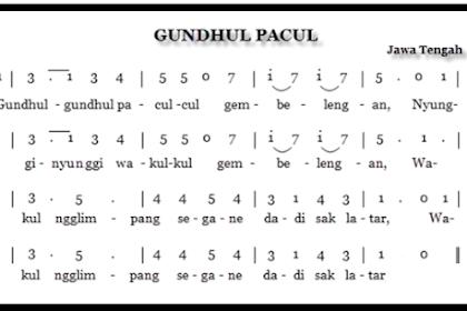 Tangga Nada Pentatonis Dalam Cublak-Cublak Suweng Dan Gundhul Pacul