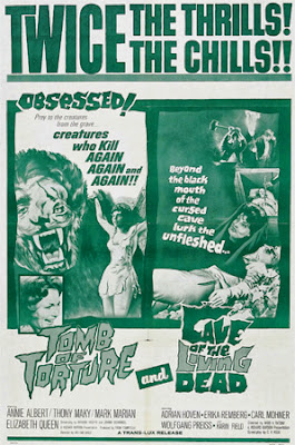 Poster - Double Feature: Tomb of Torture (1963) and Cave of the Living Dead (1964)