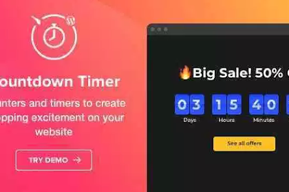 Countdown Timer v1.2.0 – WordPress Countdown Timer plugin