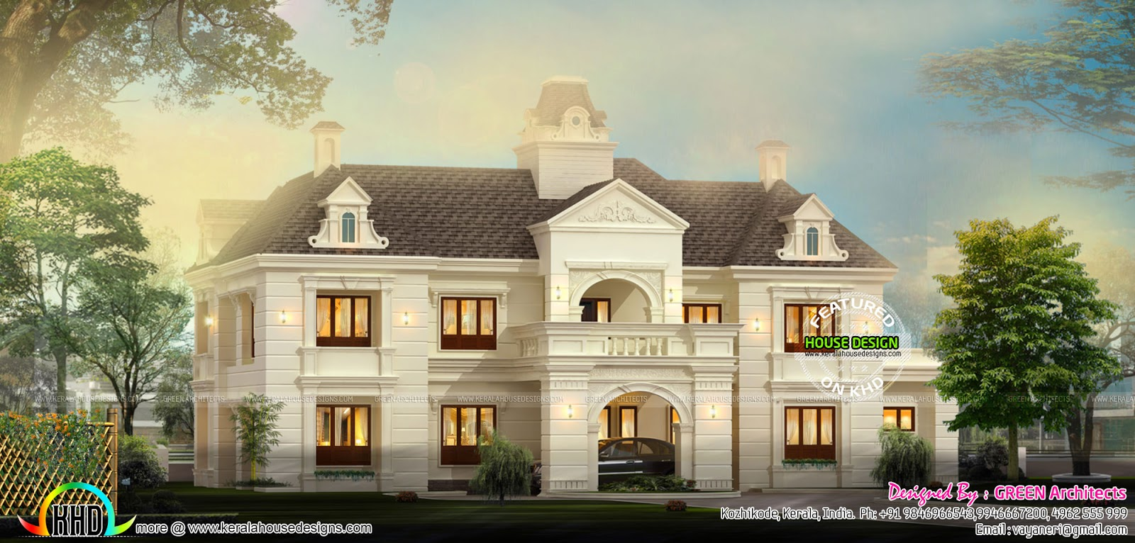 French style home architecture kerala home design and for French style house plans