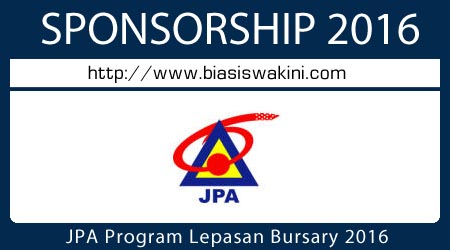 JPA Program Lepasan Bursary 2016