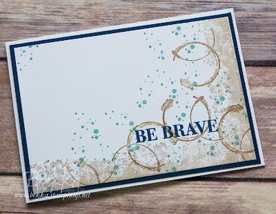 Make In A Moment Timeless Textures Be Brave Get Well Soon Card
