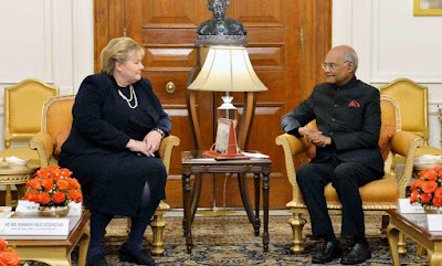 Prime Minister of Norway meets on the President Kovind