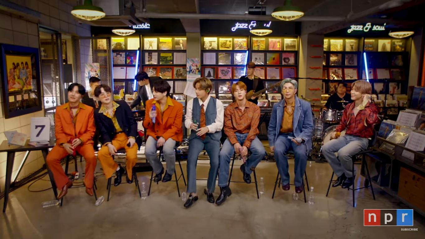 "BTS Sing Three Songs Live at NPR Music's ""Tiny Desk"" Concert"