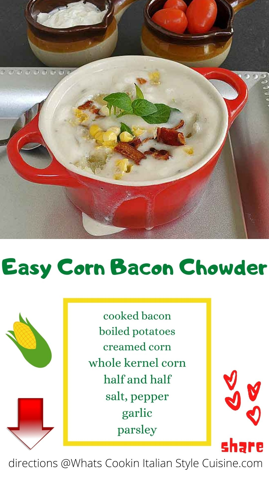 pin for later how to make corn chowder