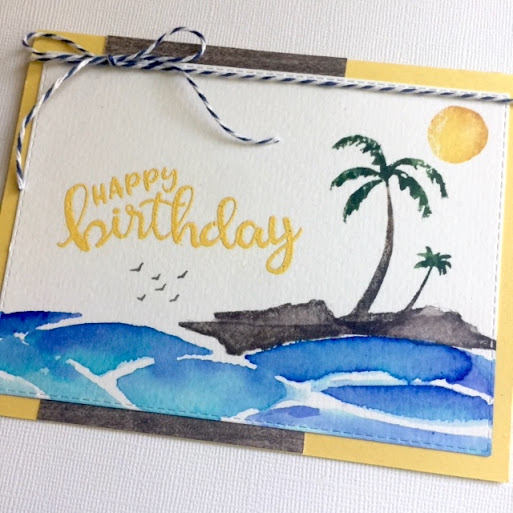 Happy Birthday by Donna features Paradise Palms, Birthday Essentials, and Sunscape by Newton's Nook Designs; #newtonsnook