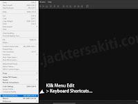 Belajar Photoshop #04 - Mengatur Keyboard Shortcuts di Adobe Photoshop