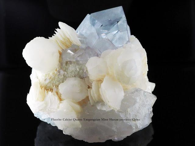 Fluorite Calcite Quartz Yaogangxian Mine Hunan province China
