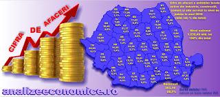 Ce județe și regiuni istorice concentrează cel mai mult din cifra de afaceri a întreprinderilor din România