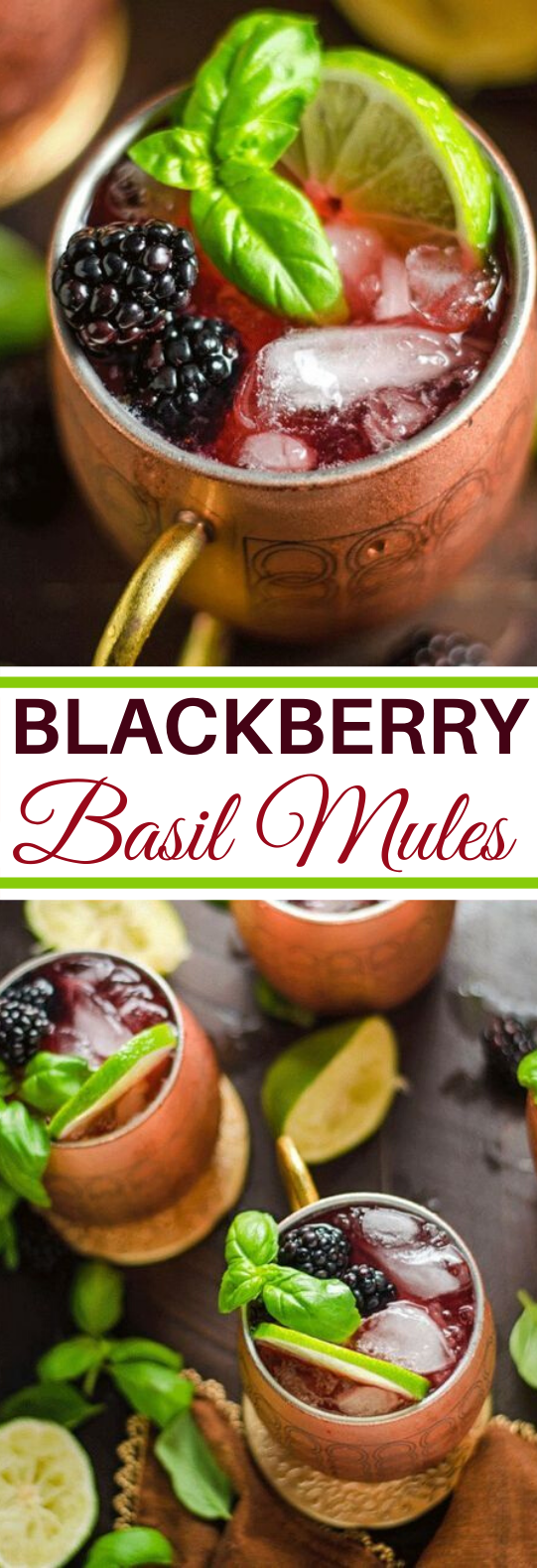 Blackberry Basil Moscow Mules #drink #alcohol #refreshing #beverages #summer