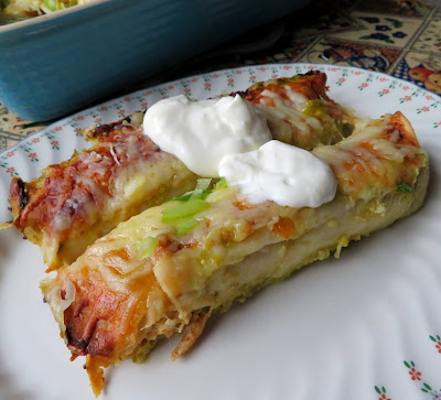 Green Chili Turkey Enchiladas