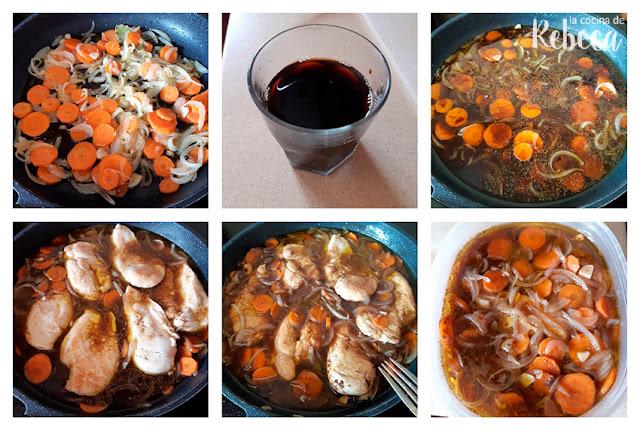 Receta de pollo en escabeche: preparación del escabeche