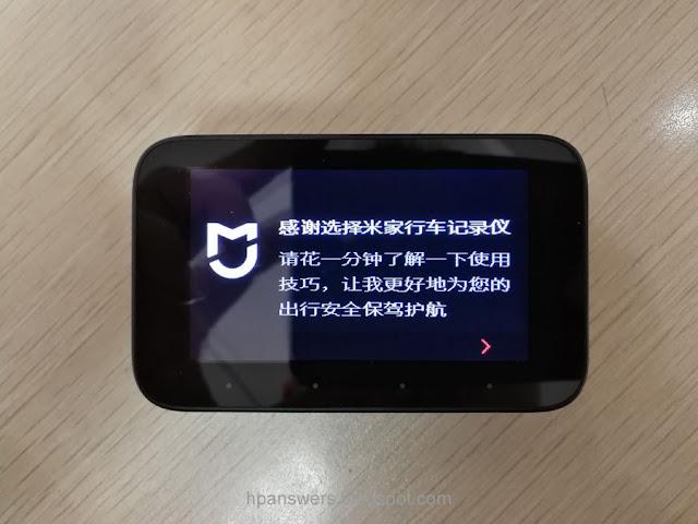 Xiaomi Mijia Car DVR Camera LCD