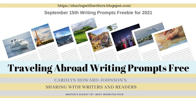 Traveling Abroad Writing Prompts for September 15, 2021 Freebie