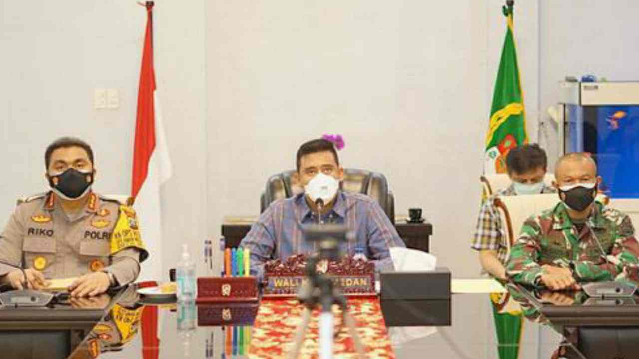 Wali Kota Medan Bobby Nasution Paparkan Perkembangan Dan Penanganan Covid-19 di Kota Medan